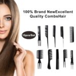 10 pieces Black Professional Combs3
