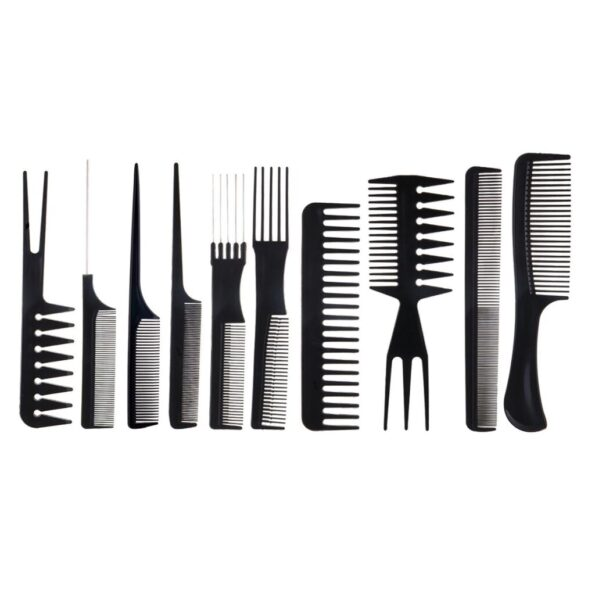 10 pieces Black Professional Combs2